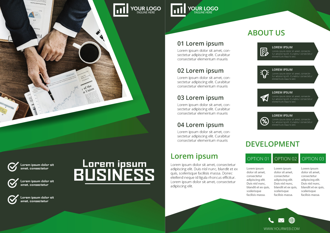 Two Fold Brochure Design Sample